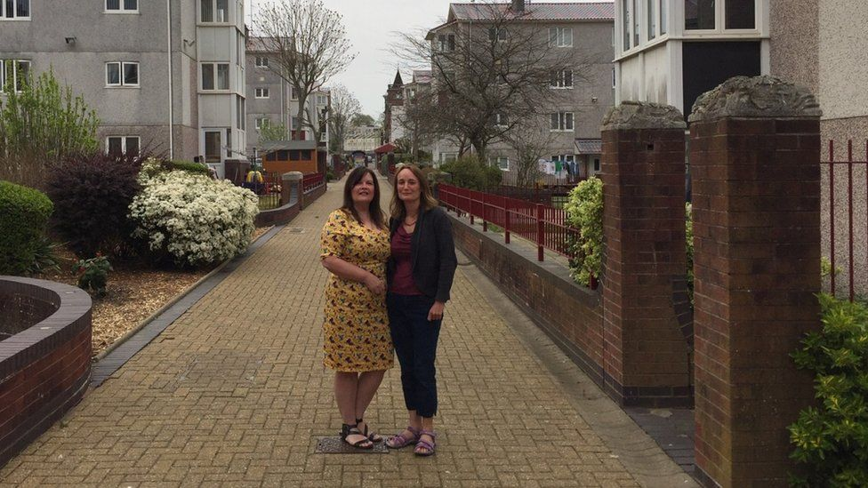 Debbie Roche and Felicity Thomas in the Penbroke Street Estate
