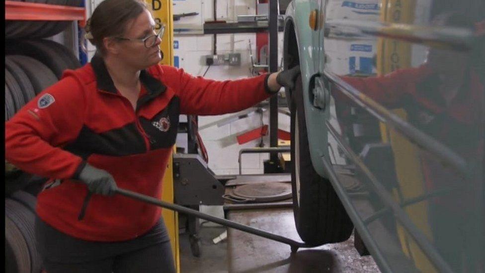 Hayley Pells, owner of Avia Autos in Bridgend