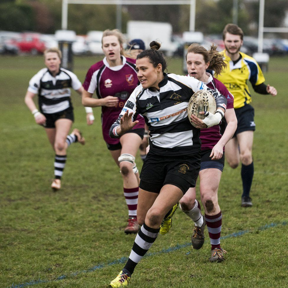 Jo Evans in action