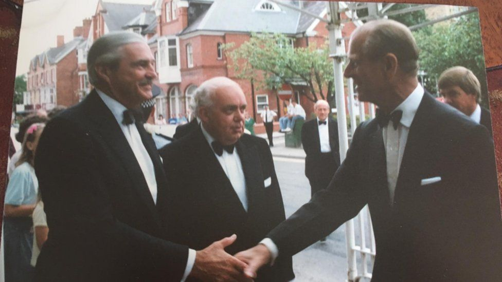 Centre: Bill Edwards, right: Duke of Edinburgh