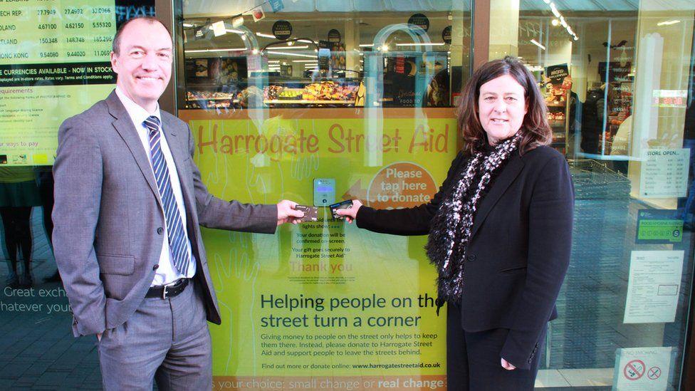 Harrogate Borough Council leader Richard Cooper and North Yorkshire Police and Crime Commissioner Julia Mulligan