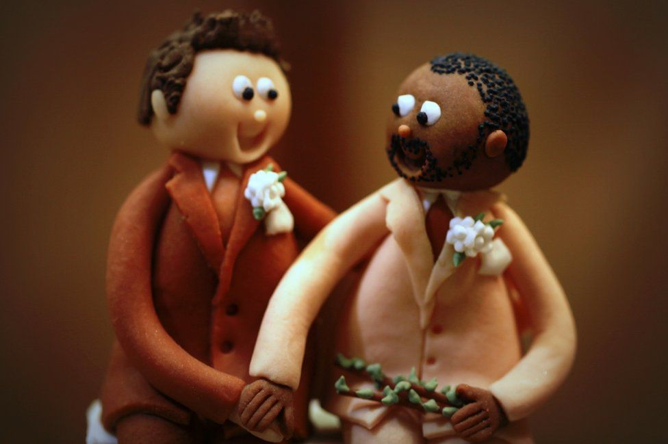 Two marzipan figures
