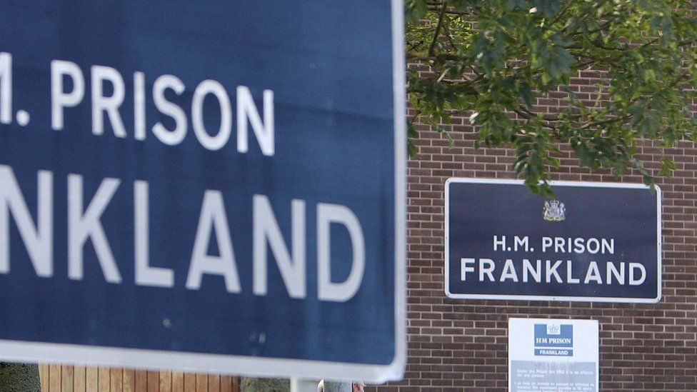Signs at HMP Frankland in County Durham