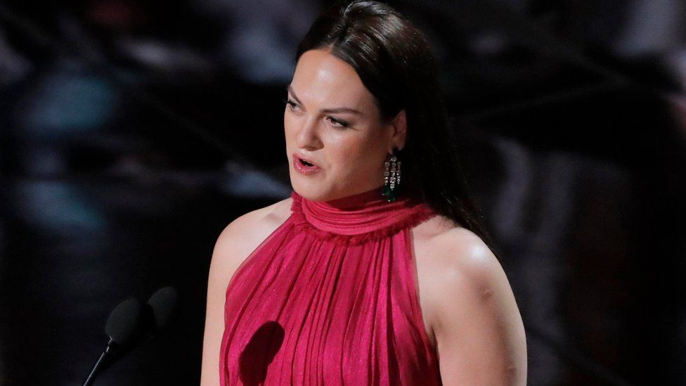 Daniela Vega presents at the 90th Academy Awards in Hollywood, California, US on 4 March 2018