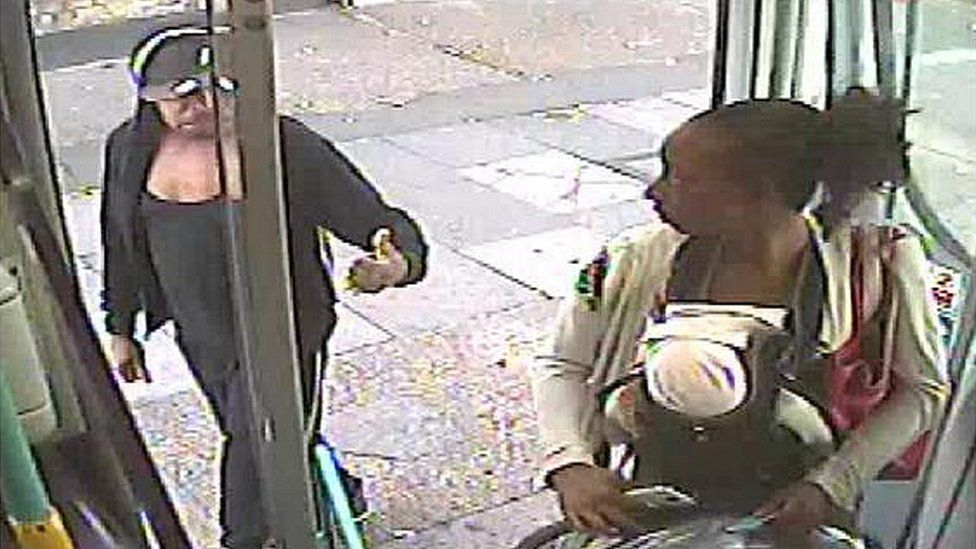 CCTV from London bus