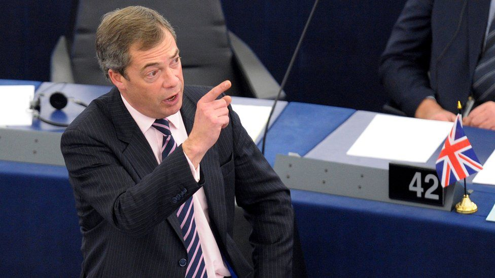 Nigel Farage reacts during a debate on the 2011 EU budget at the European Parliament in Strasbourg, 24 November 2010