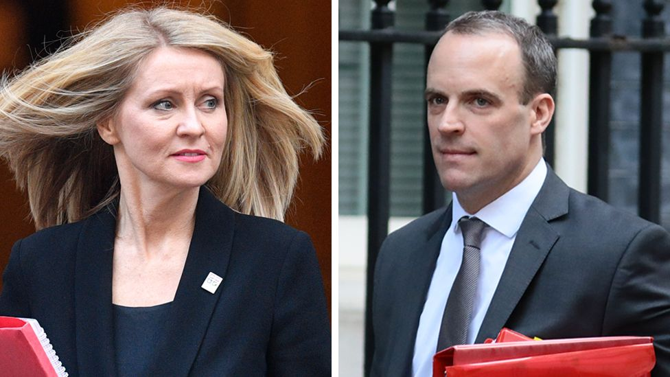 Esther McVey and Dominic Raab