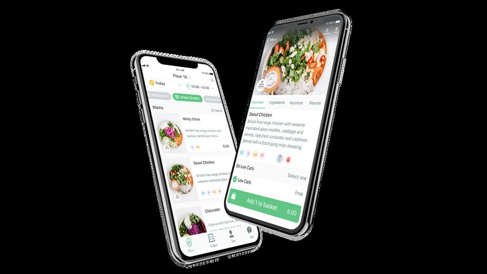 Phones displaying the Feedr app