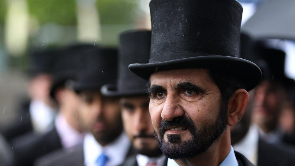 Sheikh Mohammed Al-Maktoum at Ascot in 2011