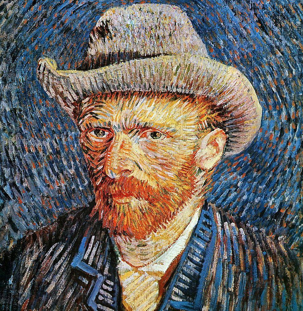 """""""Autorretrato con sombrero de fieltro gris"""", Vincent van Gogh (1853-1890)"""