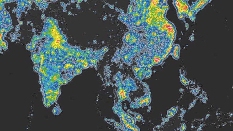 Global map of brightness