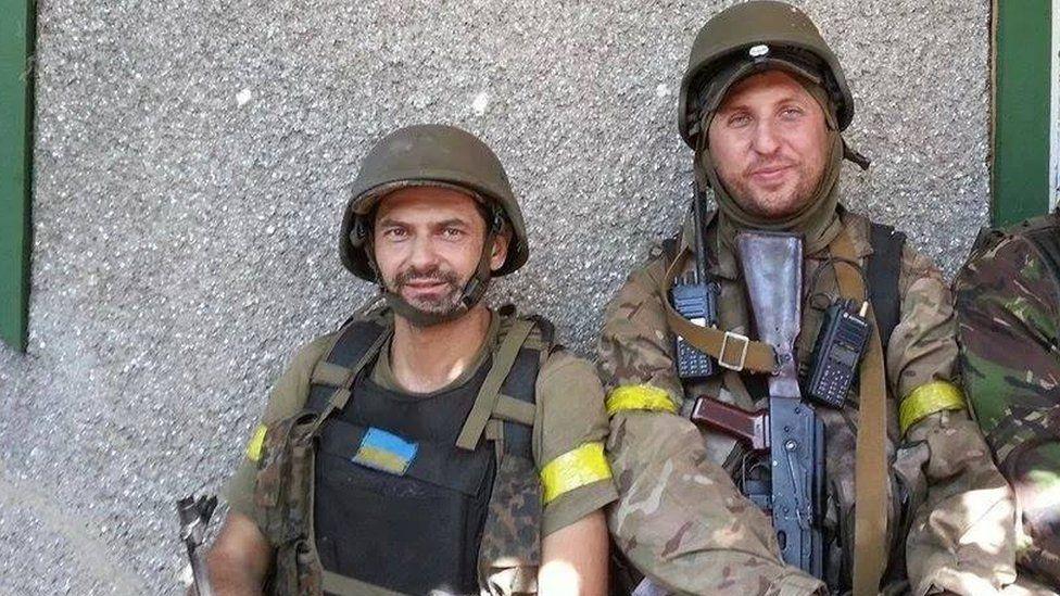 Roman Zinenko on the left