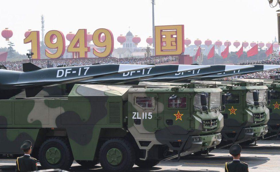 DF-17 en el desfile militar de Pekín.