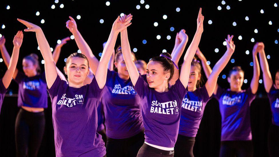 Academy Street Dance Studio pupils perform with Scottish Ballet at Beach Ballroom. Credit Sally Jubb.jpg