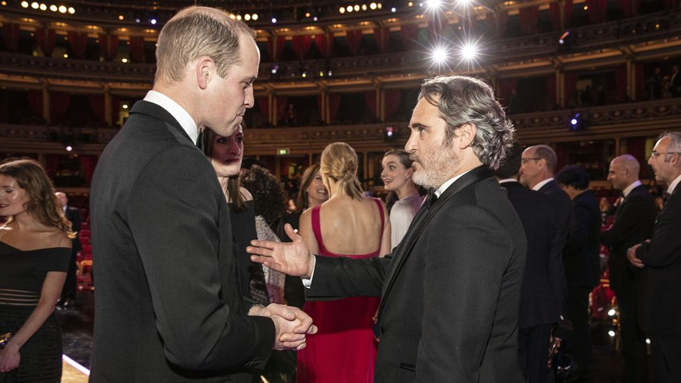 The Duke of Cambridge and Joaquin Phoenix