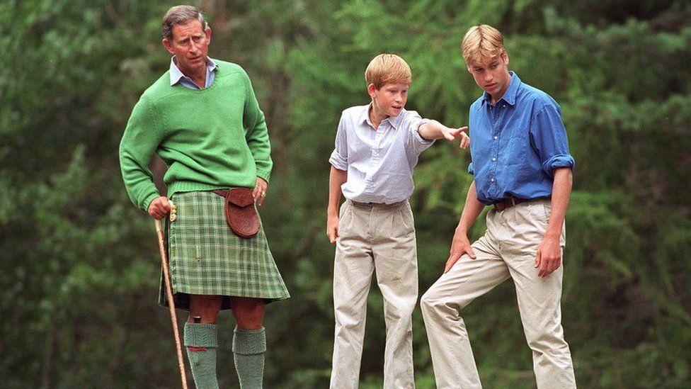 Prince Charles, Prince Harry and Prince William