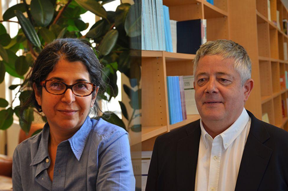 عکس رولان مارشال و فریبا عادلخواه در وبسایت دانشگاه ساینس پو