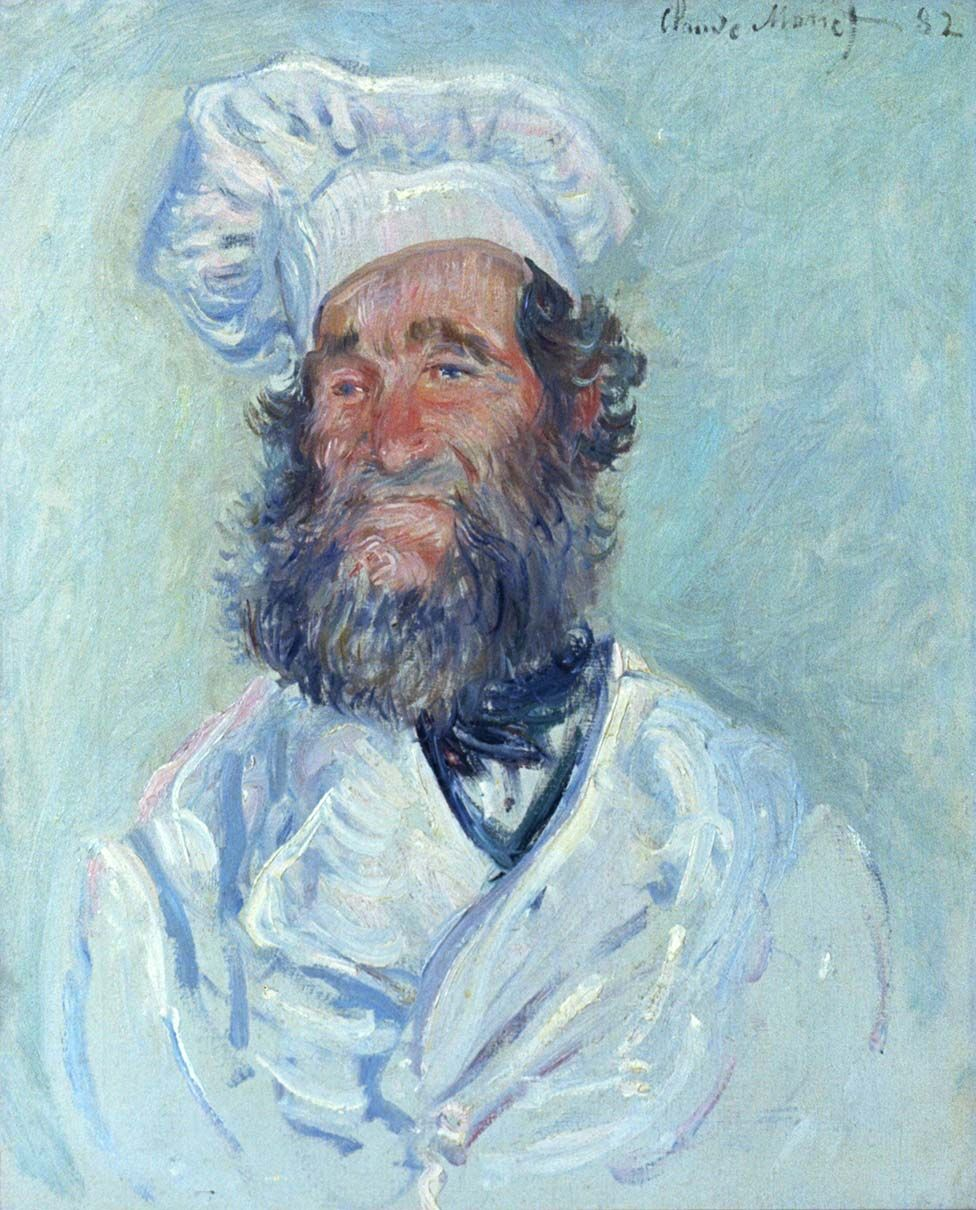 The chef (Le Père Paul), 1882 by Claude Monet, in the Collection of Österreichische Galerie Belvedere, Vienna