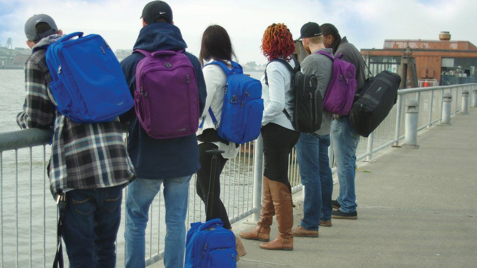 People wear Litegear backpacks and bags