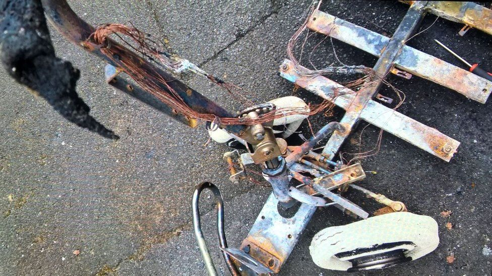 Burnt mobility scooter