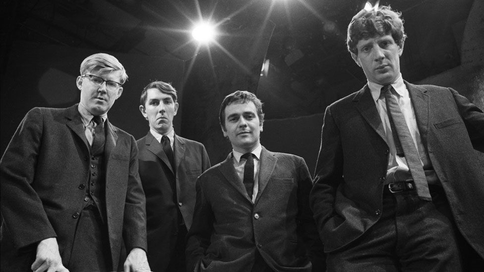 Jonathan Miller (far right) with Alan Bennett, Peter Cook and Dudley Moore