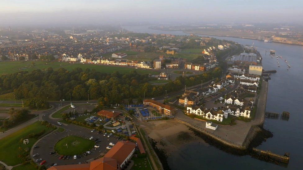Aerial of South Shields