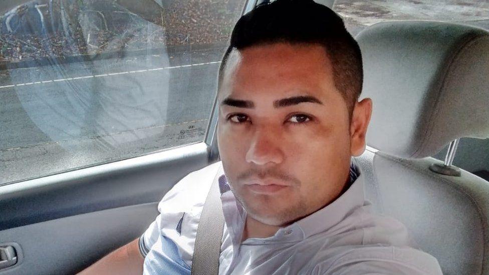 Daniel Hercules in his taxi