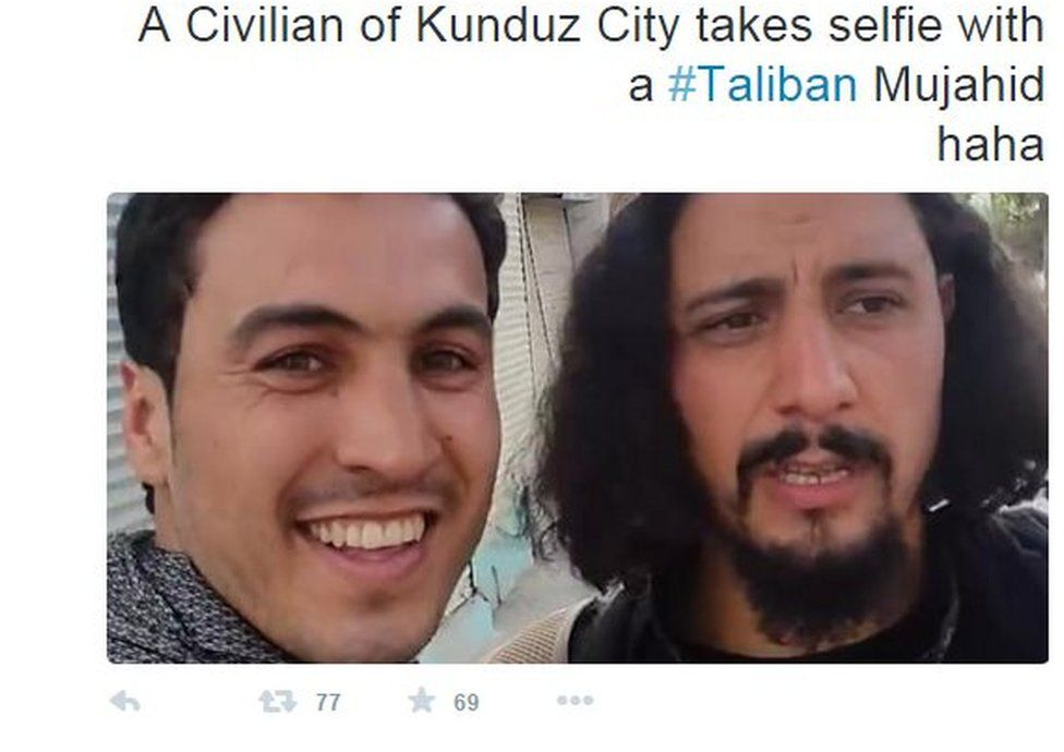 "The widely shared ""Taliban selfie"""