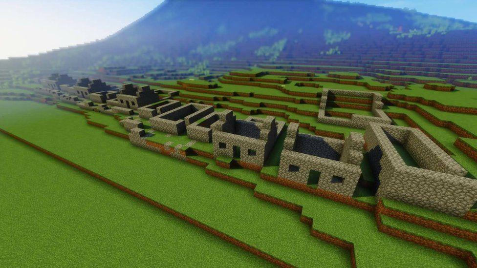 St Kilda in Minecraft