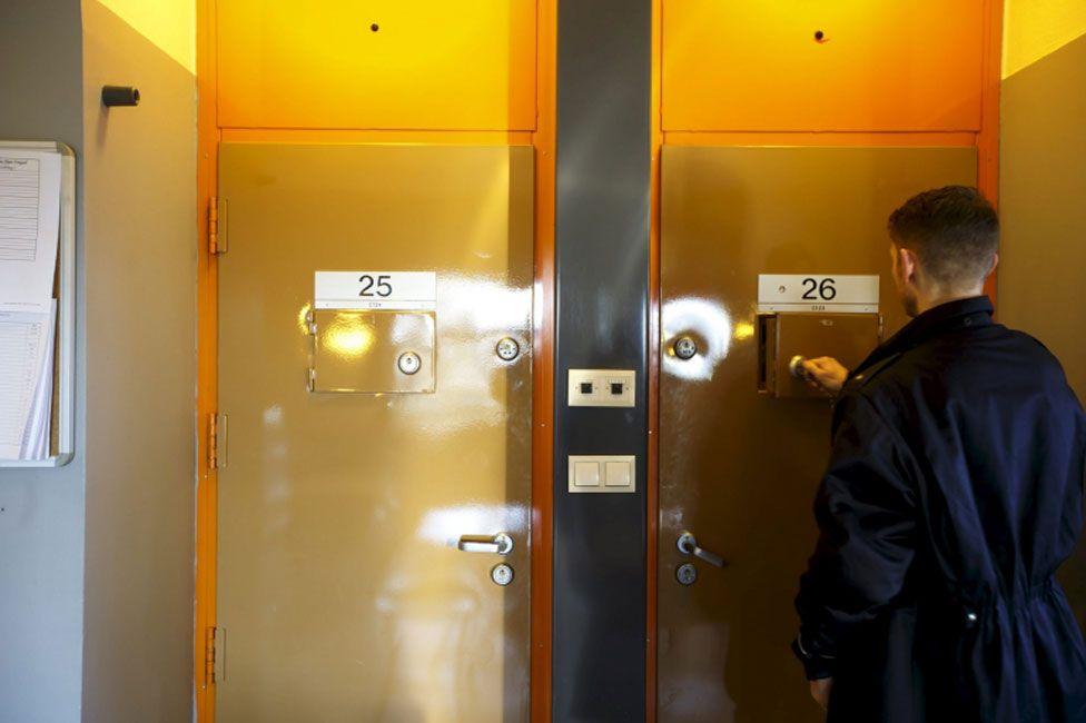 Cell doors in Skien prison