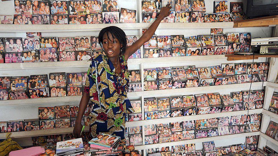 Nollywood film vendor