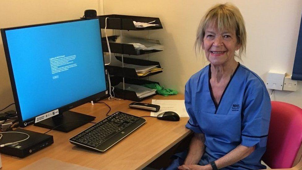 Charge nurse Frances MacNeil