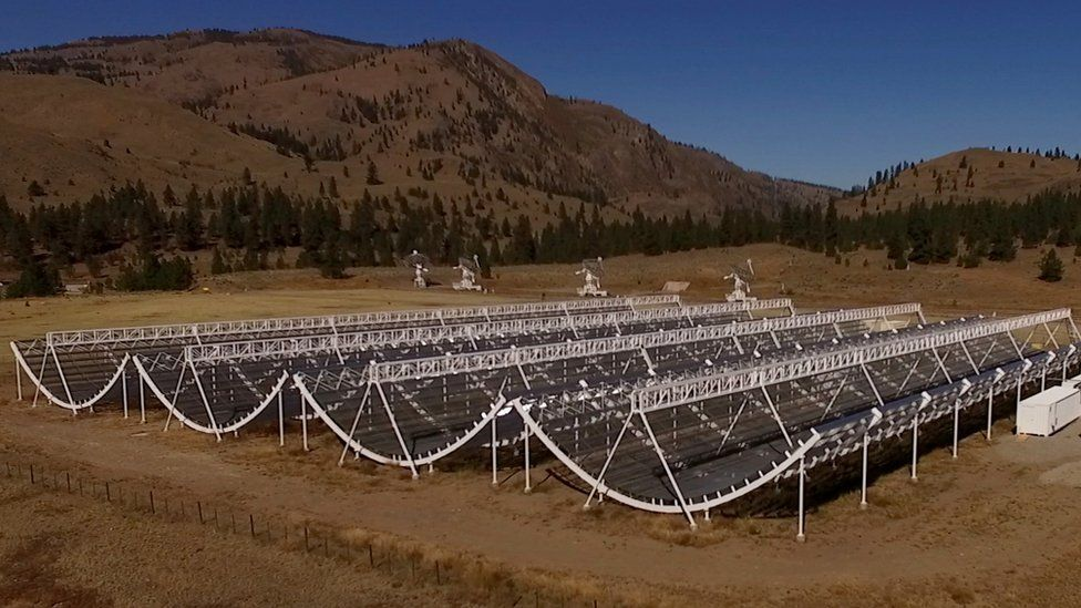 a ground-breaking radio telescope being built by a team of scientists from the University of British Columbia, McGill University, the University of Toronto and British Columbia's Dominion Radio Astrophysical Observatory.