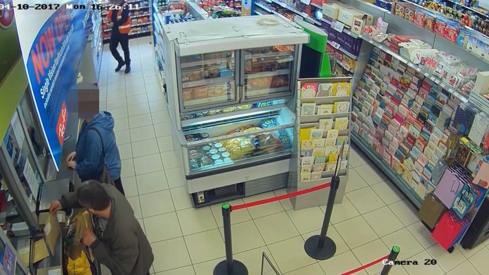 CCTV footage of drugs being posted