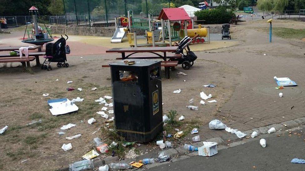 Litter in Glasgow