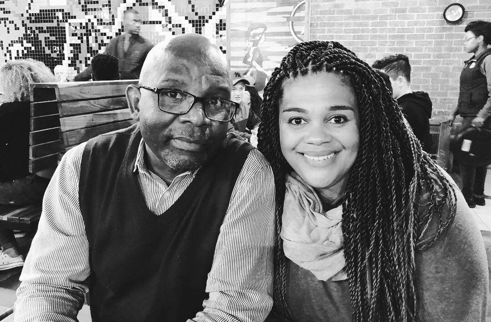 Sara-Jayne and her father