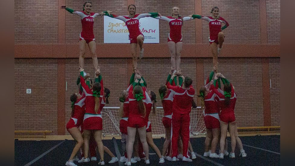 Wales para-cheer team in action