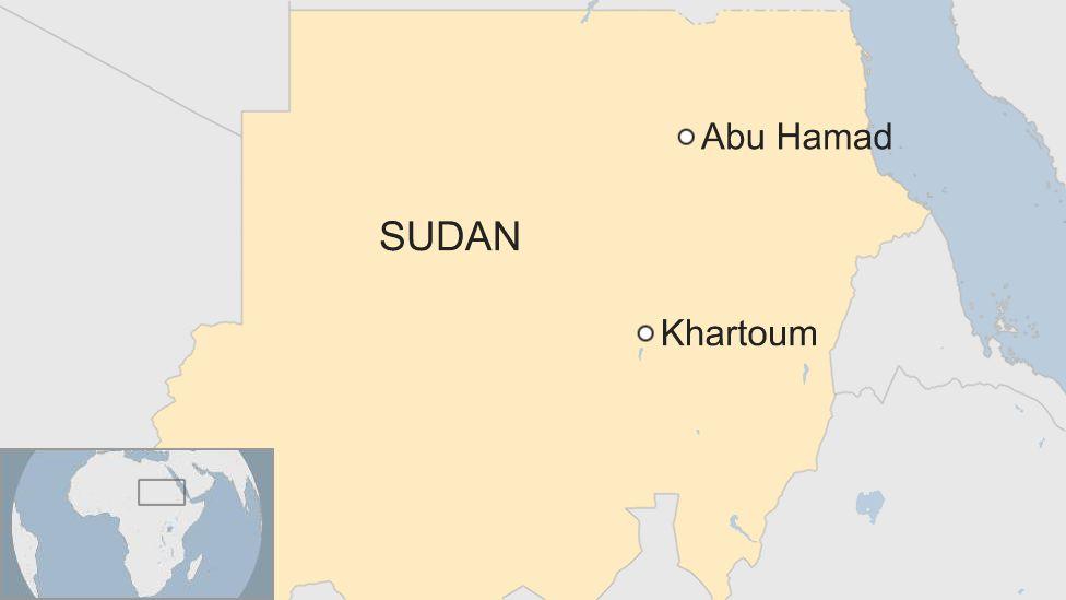 Map showing Abu Hamad
