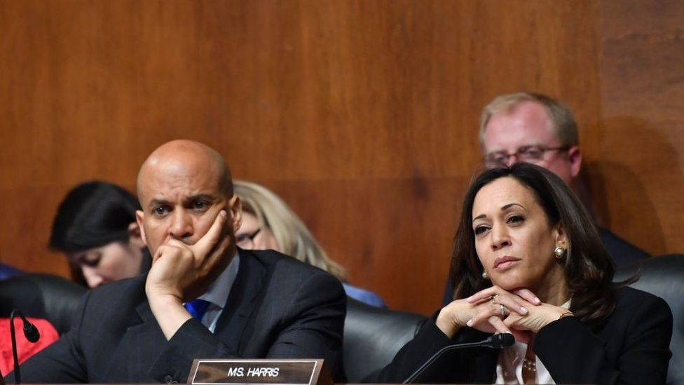 Presidential contenders Cory Booker and Kamala Harris are both committee members