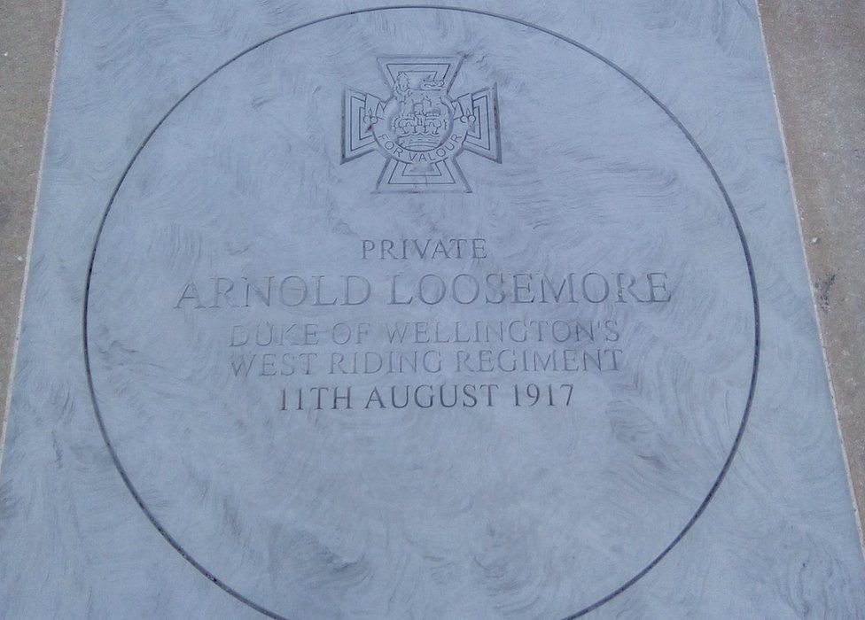 The plaque to Sgt Loosemore