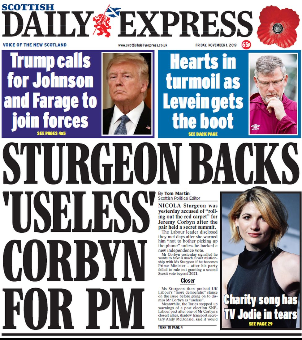 Daily Express front page
