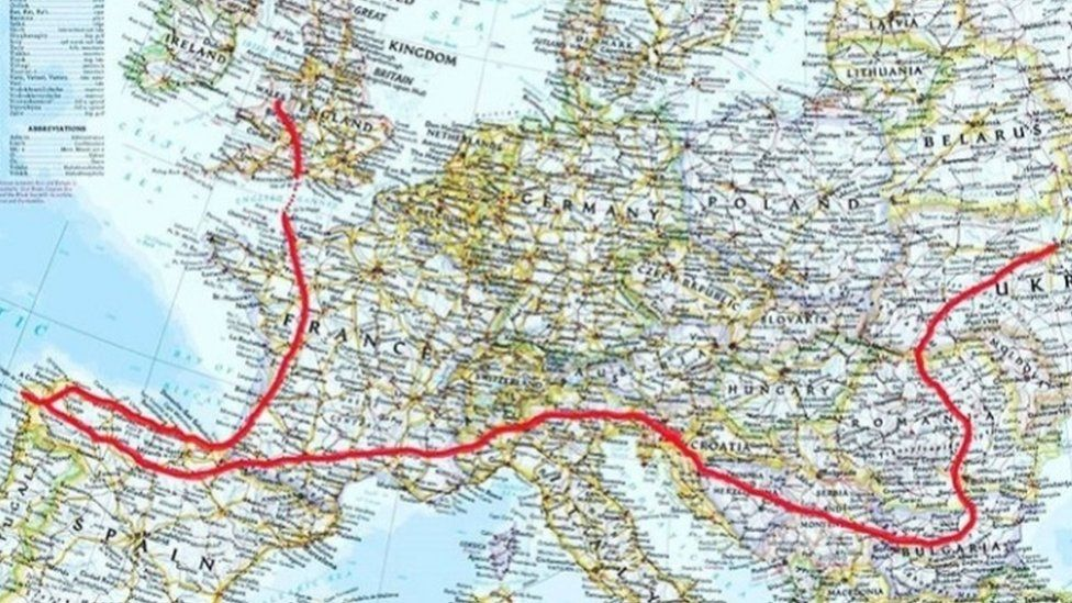 The route from Ukraine to the UK