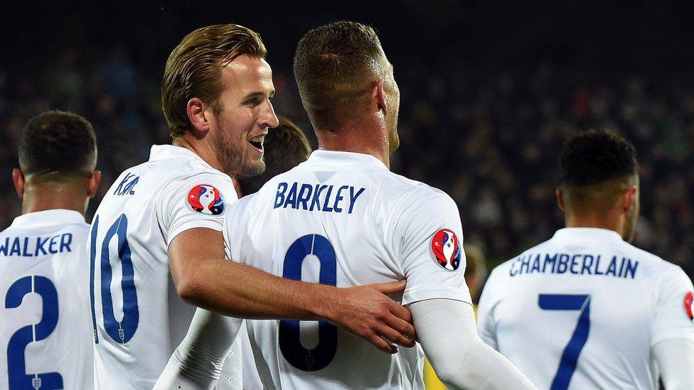 Harry Kane and Ross Barkley, October 2015, Lithuania v England