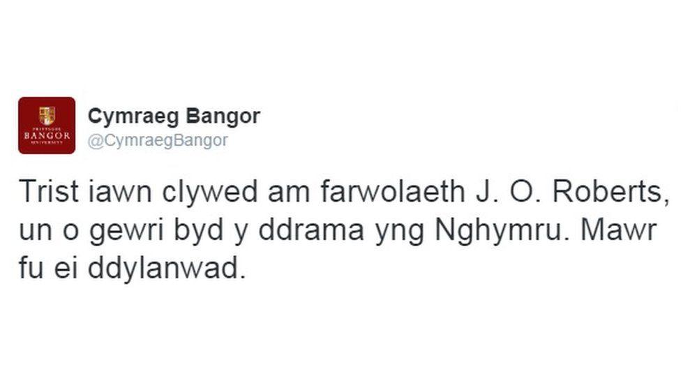 tweet prif bangor