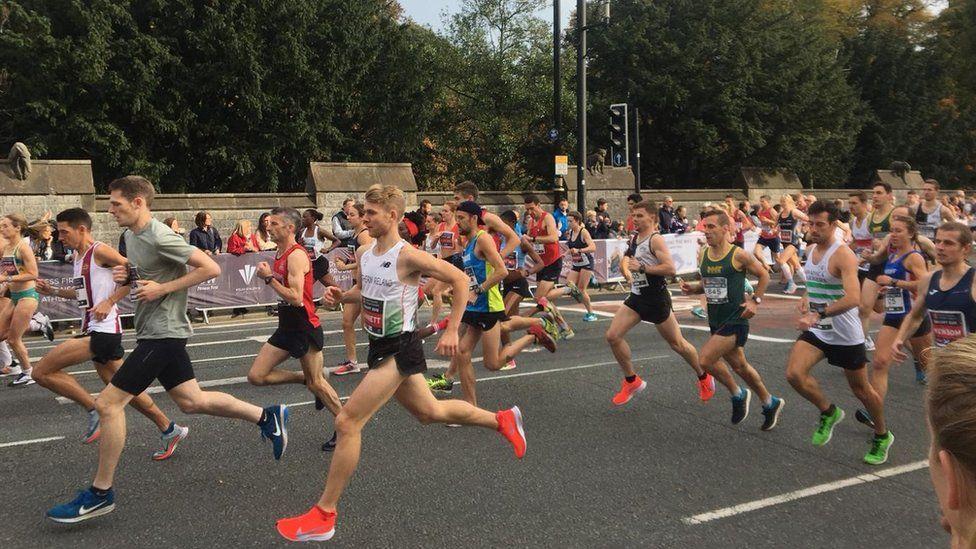 Runners in the Cardiff Half Marathon