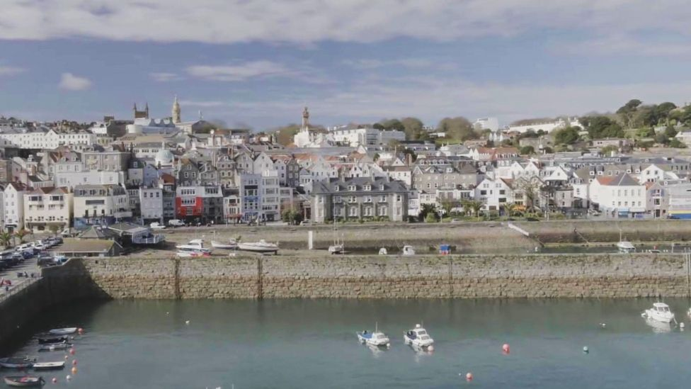 Drone's eye view of Guernsey