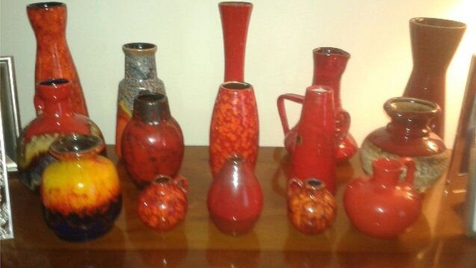 Some of Hamish's collection of pots