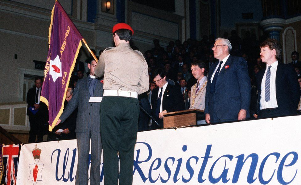 Ulster Resistance was launched in Belfast's Ulster Hall in 1986