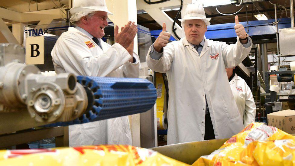 Boris Johnson in Tayto factory