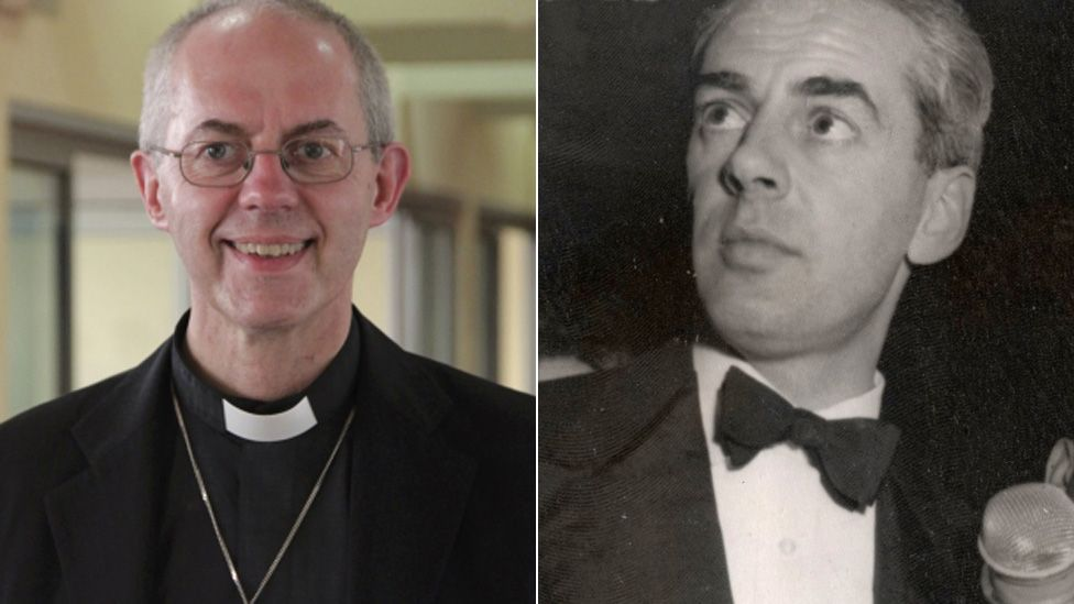 Justin Welby and his biological father Sir Anthony Montague Browne